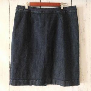 Boden Dark Denim Blue Pencil Skirt Size 14 R